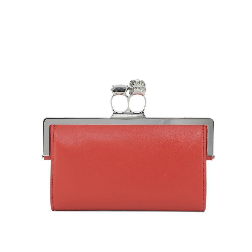アレキサンダー マックイーン Alexander McQueen レディース バッグ クラッチバッグ【Red leather clutch】Red