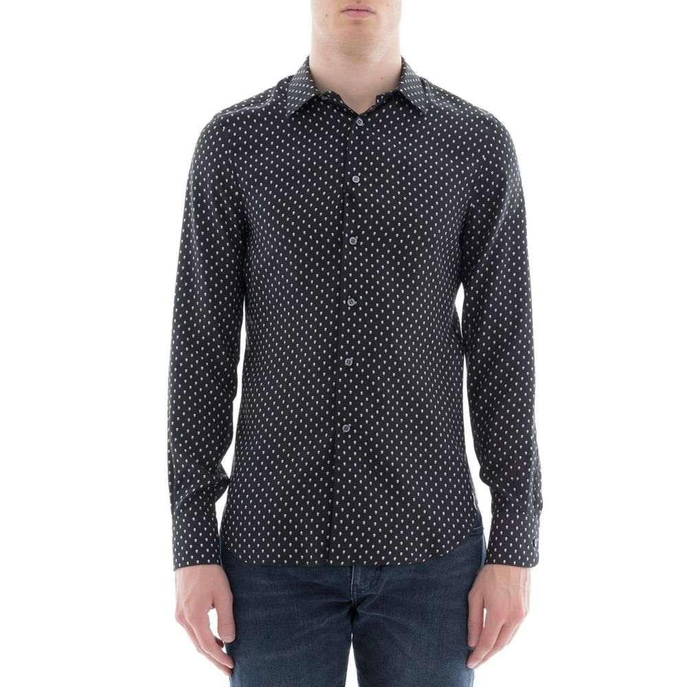 アレキサンダー マックイーン Alexander McQueen メンズ トップス シャツ【Black silk shirt】Black