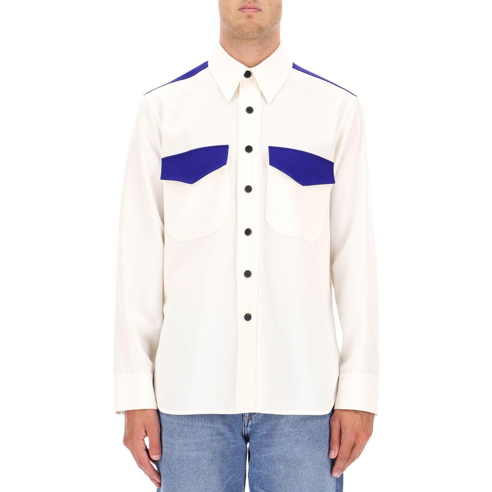 カルバンクライン Calvin Klein 205W39NYC メンズ トップス シャツ【White wool shirt】White