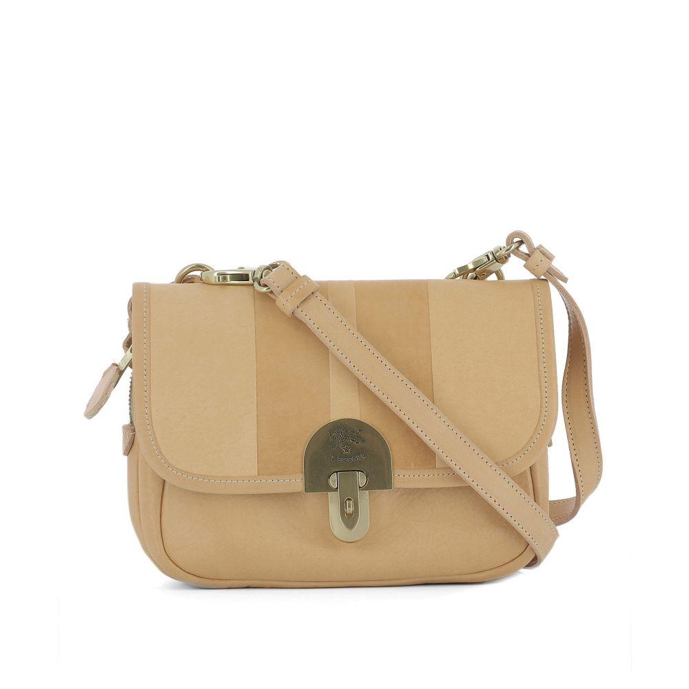 イルビゾンテ Il Bisonte レディース バッグ ショルダーバッグ【Peach orange leather shoulder bag】Orange