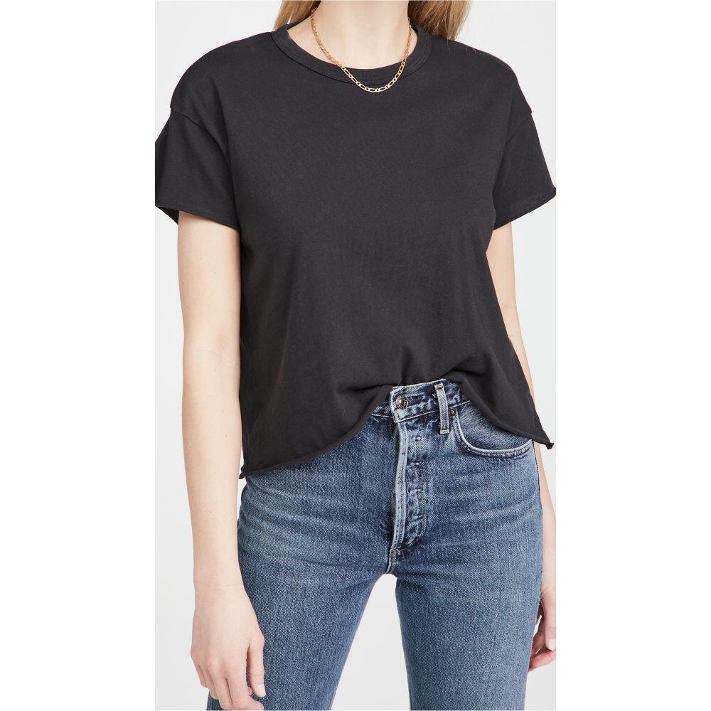 ザ グレート レディース トップス ベアトップ チューブトップ クロップド サイズ交換無料 Tシャツ Black Tee GREAT. Almost Crop 予約 The THE 卓越