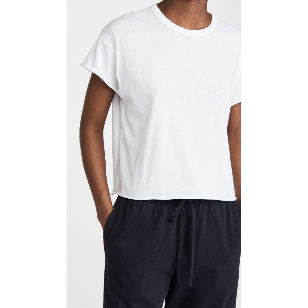 ザ グレート レディース トップス ベアトップ チューブトップ クロップド 年間定番 サイズ交換無料 Crop THE GREAT. Tシャツ いつでも送料無料 True The Tee White