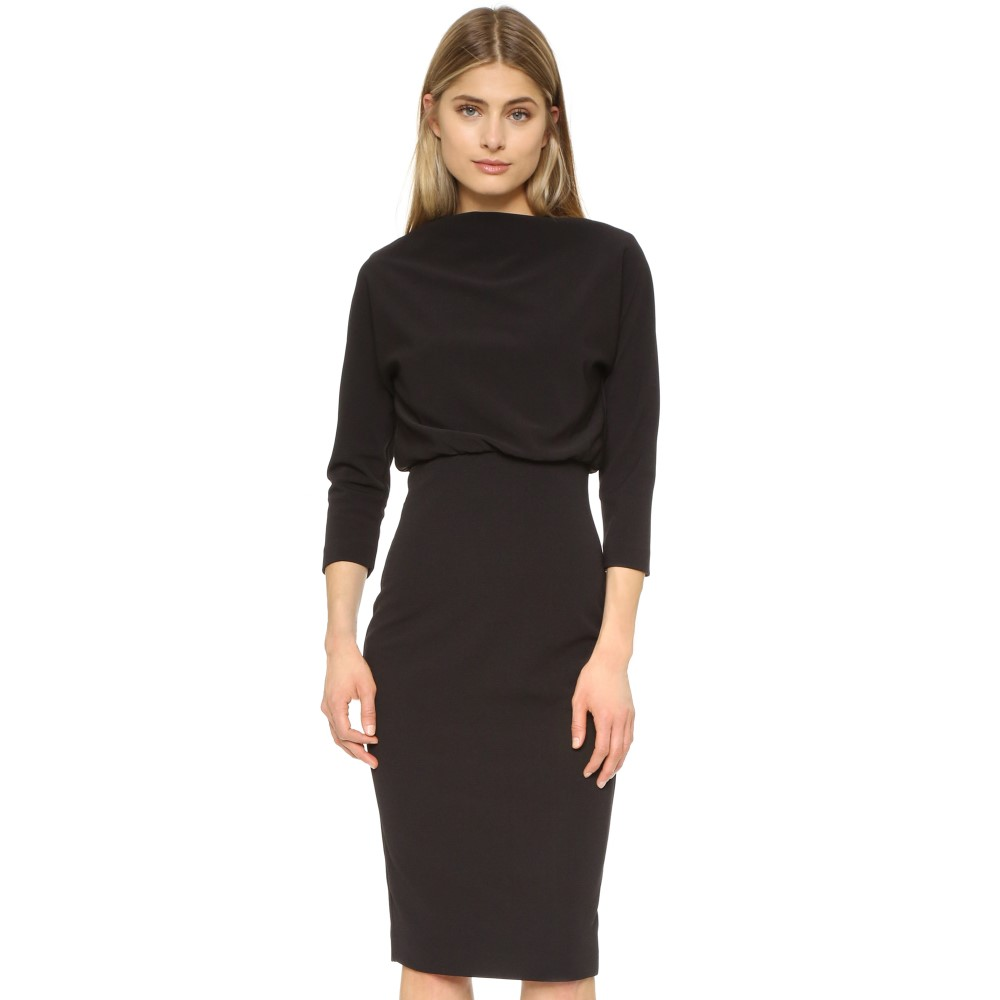 バッジェリーミシュカ Badgley Mischka Collection レディース トップス ワンピース【Long Sleeve Dress】Black