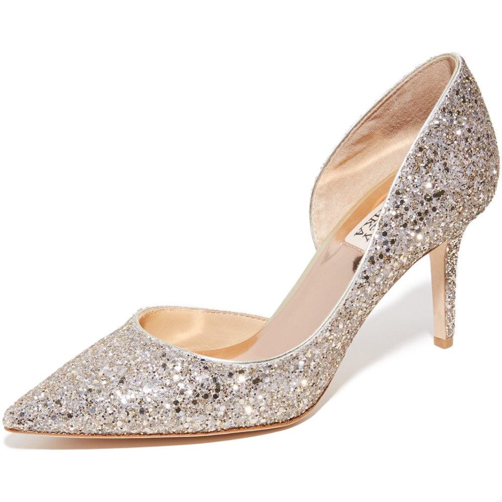 バッジェリーミシュカ Badgley Mischka レディース シューズ・靴 パンプス【Daisy Glitter Pumps】Platino