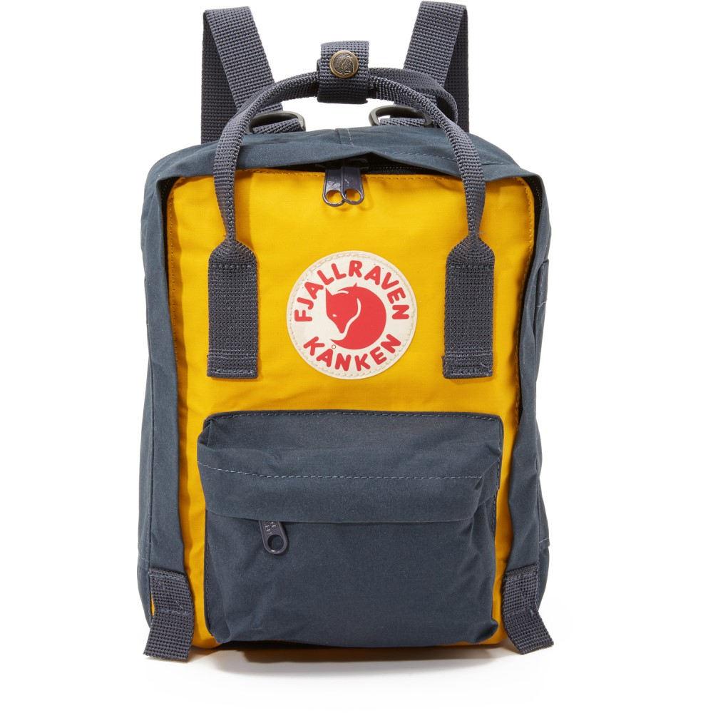 フェールラーベン Fjallraven レディース バッグ バックパック・リュック【Kanken Mini Backpack】Navy/Warm Yellow