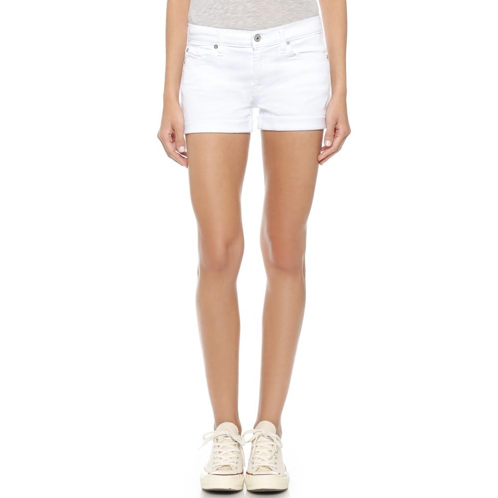 セブンフォーオールマンカインド 7 For All Mankind レディース ボトムス ショートパンツ【Roll Up Shorts】Clean White
