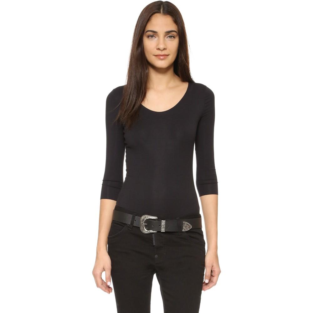 ウォルフォード Wolford レディース インナー ボディースーツ【Pure String Bodysuit】Black