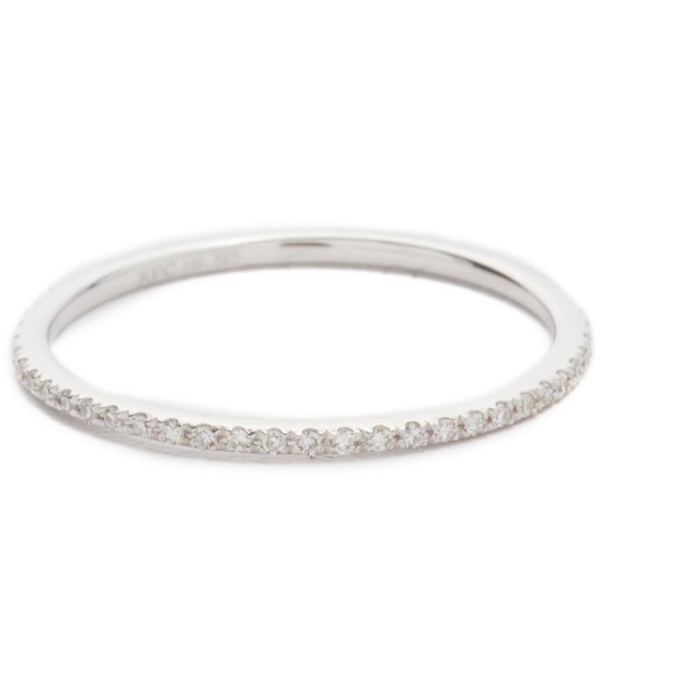 イーエフコレクション EF Collection レディース アクセサリー 指輪【Diamond Eternity Stack Ring】White Gold/Clear