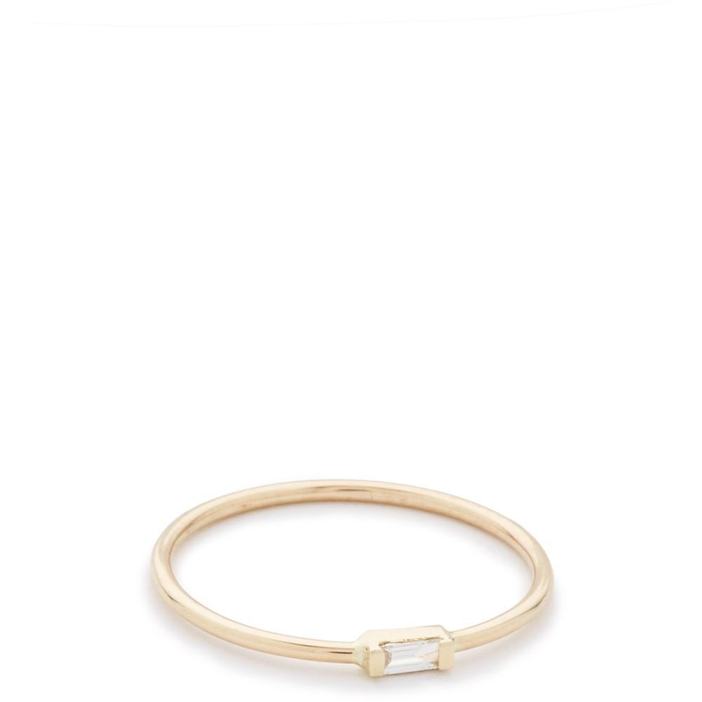 ゾイチッコ Zoe Chicco レディース アクセサリー 指輪【Horizontal Diamond Ring】Gold/Clear