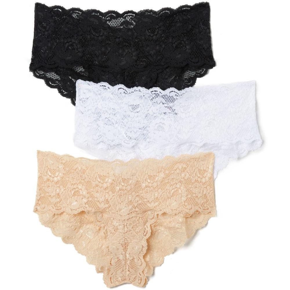 コサベラ Cosabella レディース インナー パンティー【Never Say Never Hottie Hotpant 3 Pack】Black/White/Blush