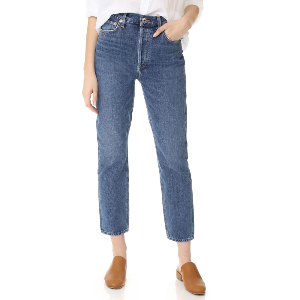 エーゴールドイー AGOLDE レディース ボトムス ジーンズ【Riley High Rise Straight Crop Jeans】Air Blue