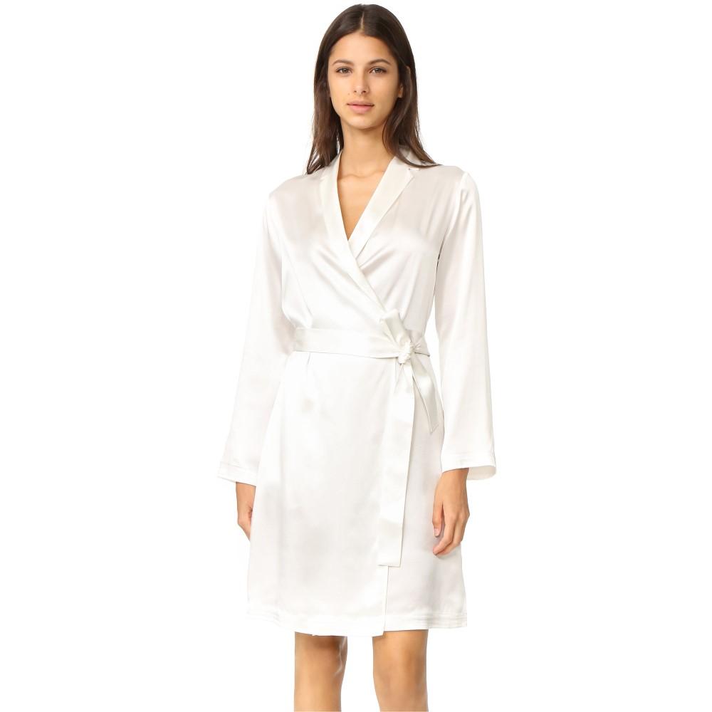 ラ ペルラ La Perla レディース インナー バスローブ【Silk Short Robe】White