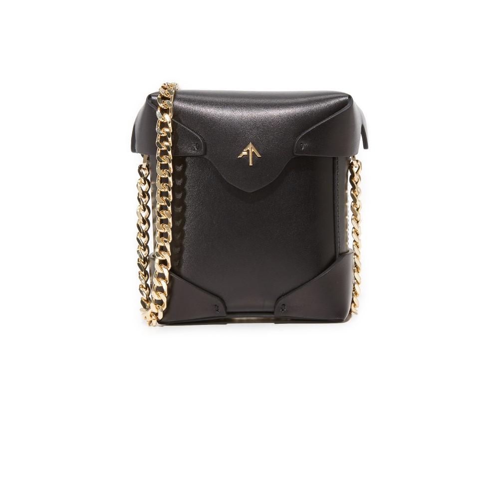マニュ アトリエ MANU Atelier レディース バッグ ショルダーバッグ【Micro Pristine Box Bag with Gold Chain】Black