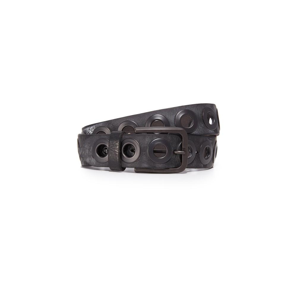 Bベルト B. Belt レディース アクセサリー ベルト【Gunmetal Ring Belt】Black