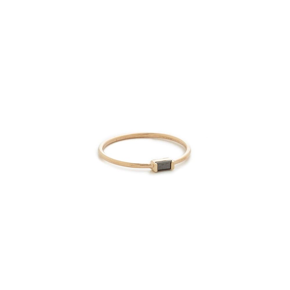 ゾーイ チコ Zoe Chicco レディース アクセサリー 指輪【Black Baguette Stacking Ring】Gold/Black