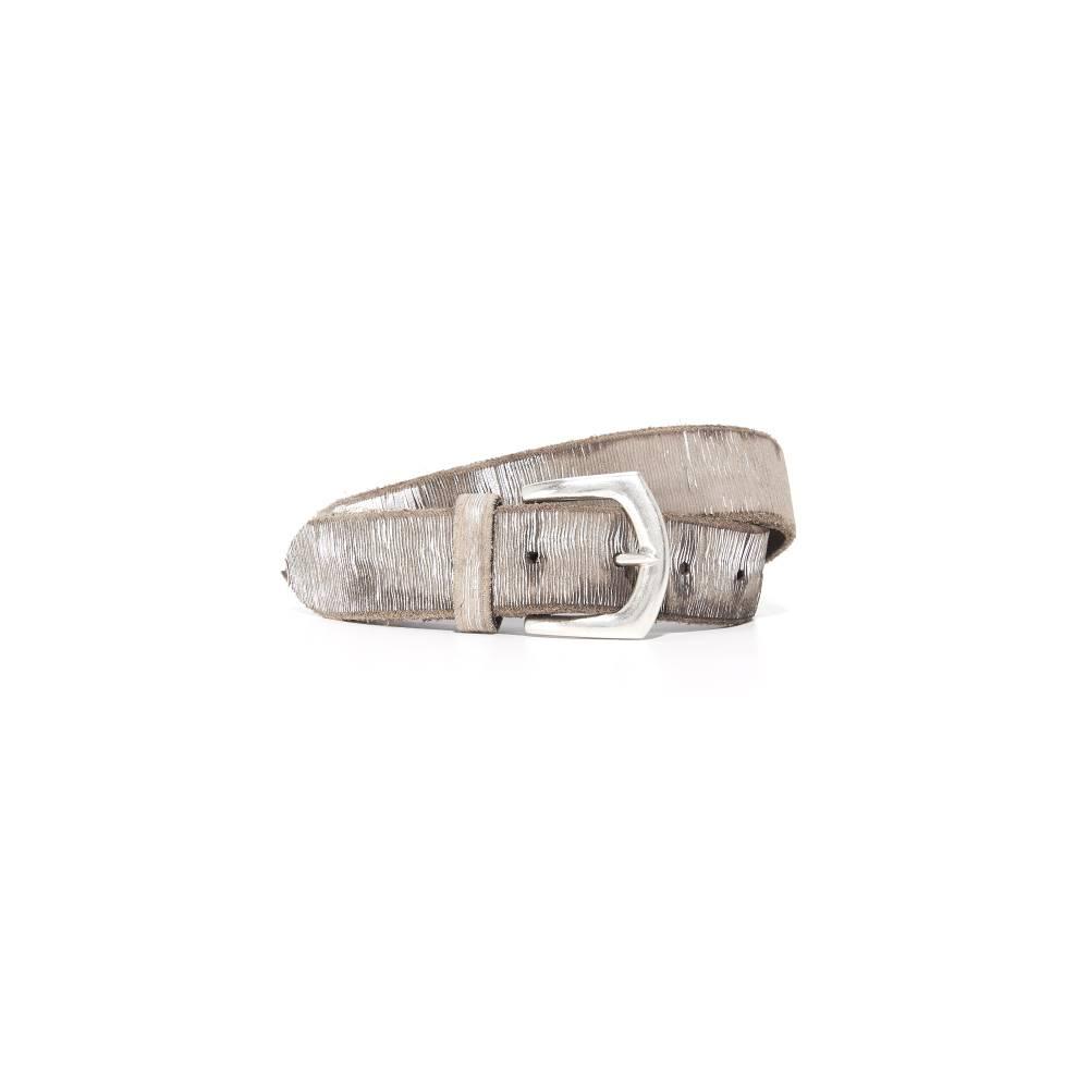 Bベルト B. Belt レディース アクセサリー ベルト【Metallic Twill Print Belt】Silver/Taupe