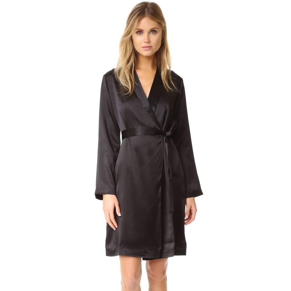 ラ ペルラ La Perla レディース インナー バスローブ【Silk Short Robe】Black
