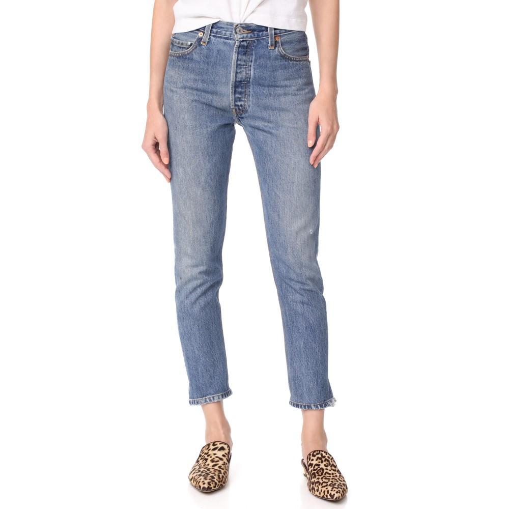 リダン レディース ボトムス・パンツ ジーンズ・デニム【x Levi's High Rise Ankle Crop Jeans】Indigo