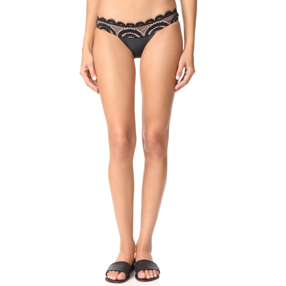ピリキュー レディース 水着・ビーチウェア ボトムのみ【Lace Banded Bikini Bottoms】Midnight