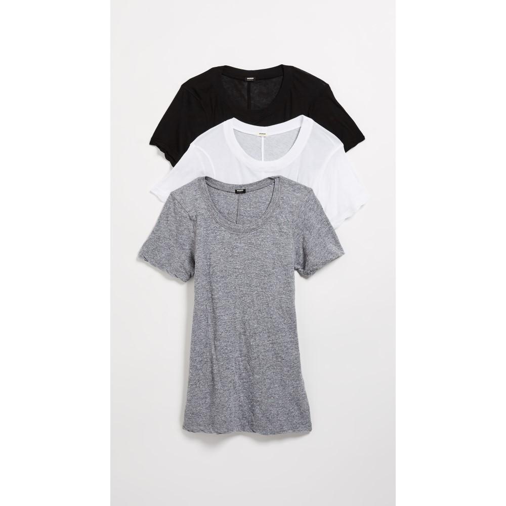 モンロー レディース トップス Tシャツ【Crew Neck Tee 3 Pack】Multi