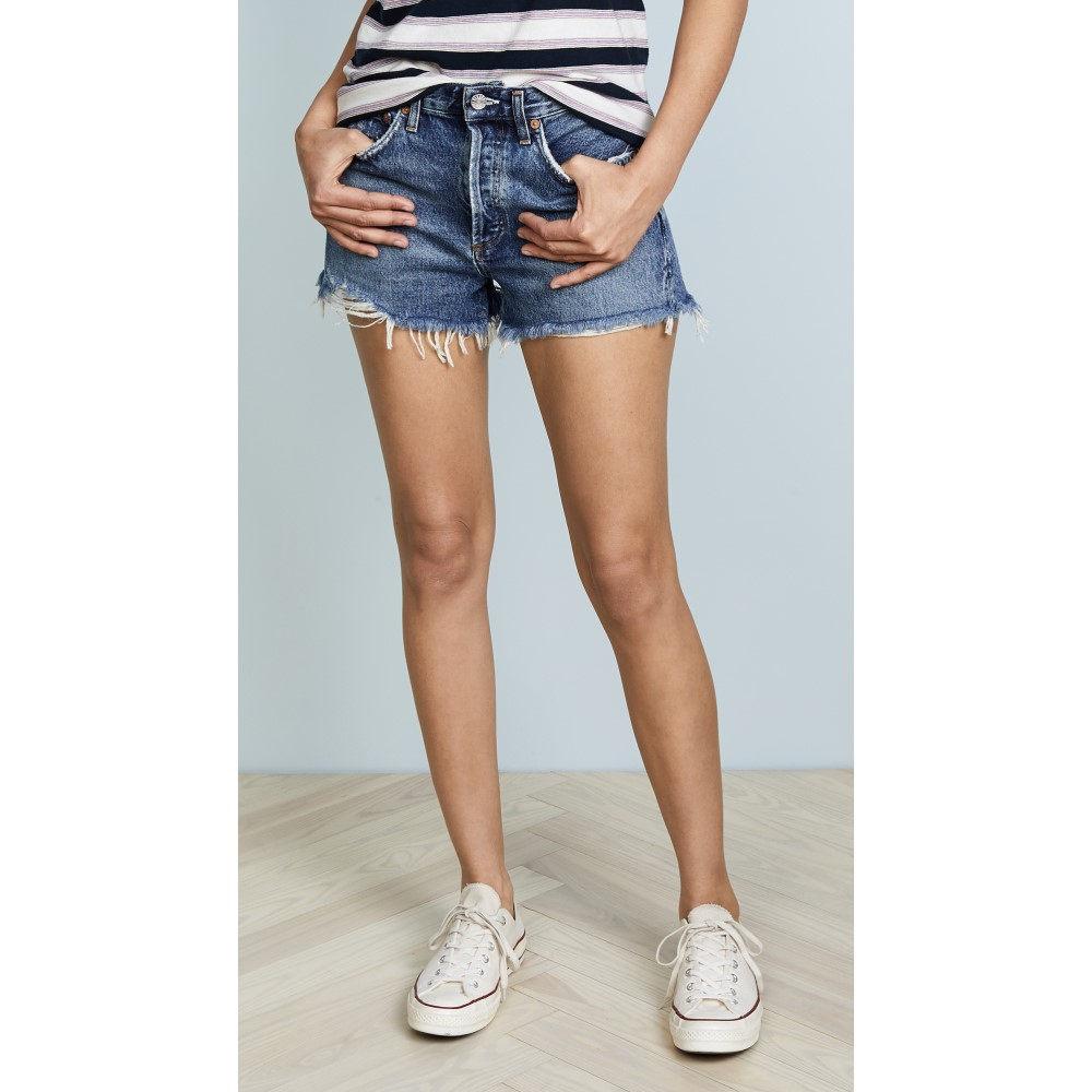 エーゴールドイー レディース ボトムス・パンツ ショートパンツ【Parker Vintage Loose Fit Cutoff Shorts】Rock Steady