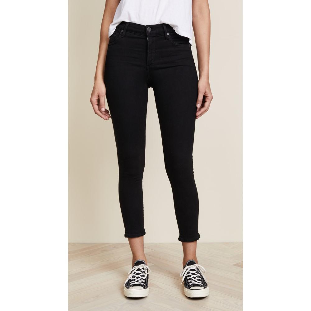 シチズン オブ ヒューマニティ レディース ボトムス・パンツ ジーンズ・デニム【Rocket Crop High Rise Skinny Jeans】All Black