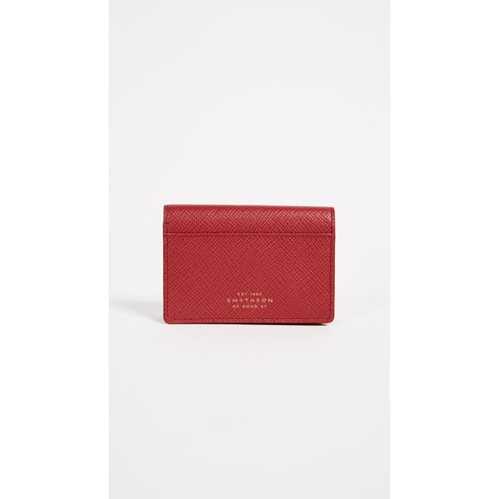 スマイソン レディース カードケース・名刺入れ【Panama Card Case】Red