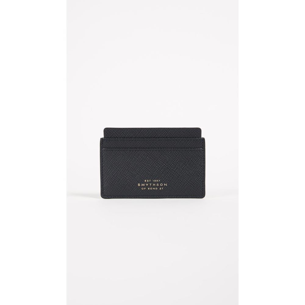 スマイソン レディース カードケース・名刺入れ【Panama Flat Card Holder】Navy