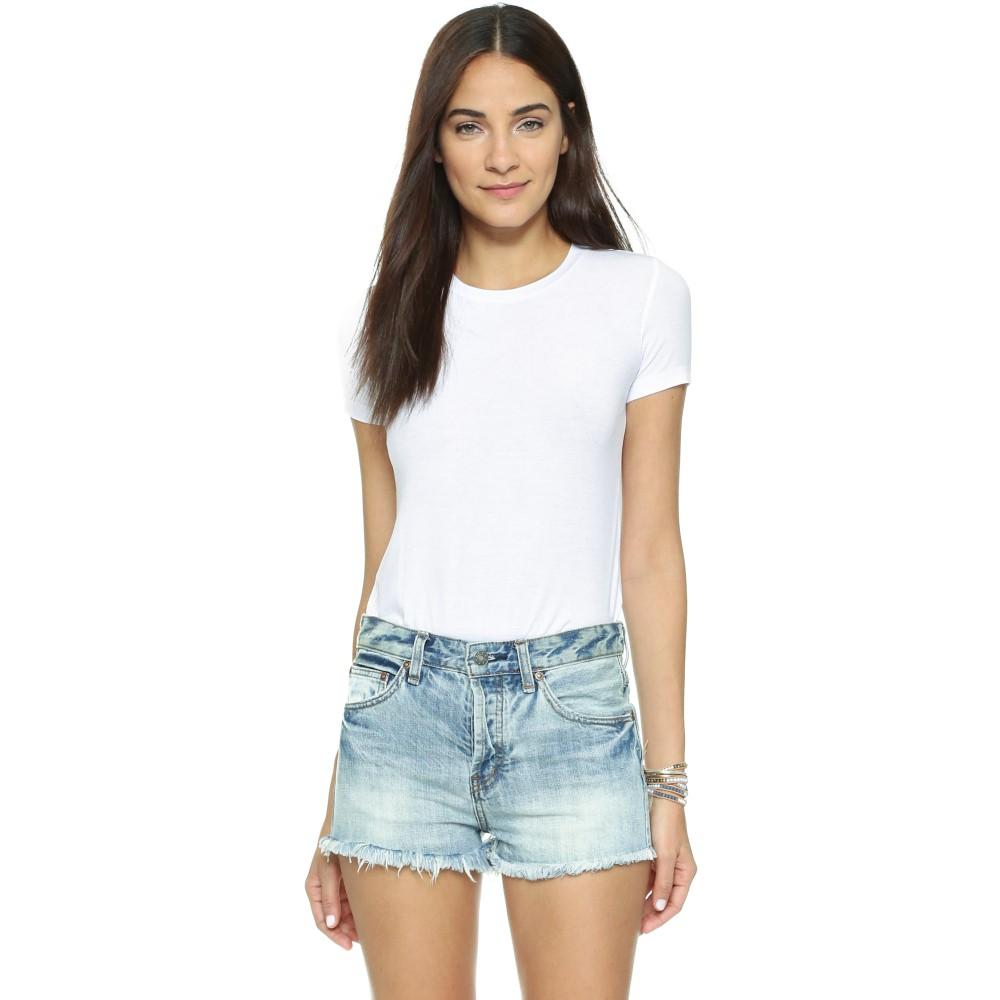 オンリー ハーツ レディース インナー・下着 ボディースーツ【Rib T-Shirt Bodysuit】White