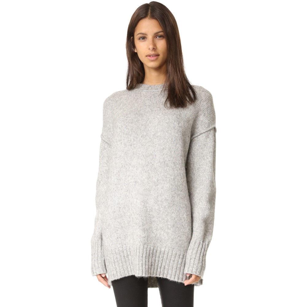 アール サーティーン レディース トップス ニット・セーター【Oversized Crew Neck Sweater】Heather Grey
