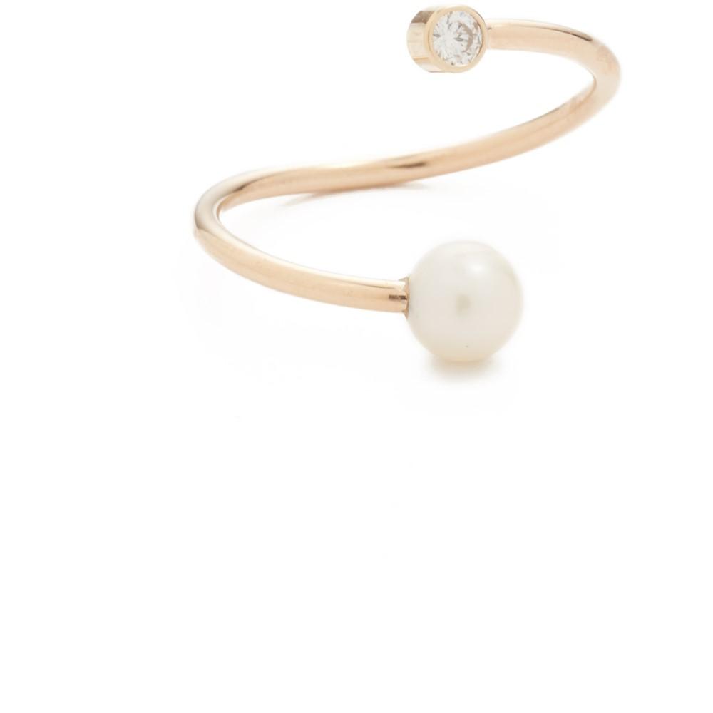 ゾーイ チコ レディース ジュエリー・アクセサリー 指輪・リング【14k Gold Freshwater Cultured Pearl Statement Ring】Gold/Pearl