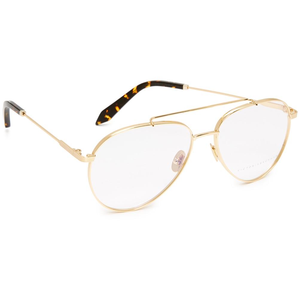 ヴィクトリア ベッカム レディース メガネ・サングラス【Grooved Aviator Glasses】Gold/Clear
