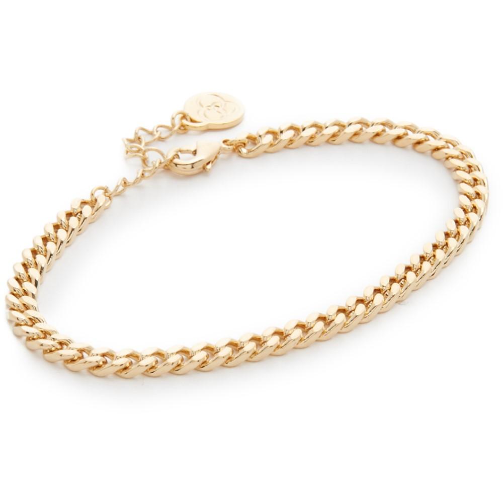 クローバーポスト レディース ジュエリー・アクセサリー ブレスレット【Large Curb Chain Bracelet】Gold