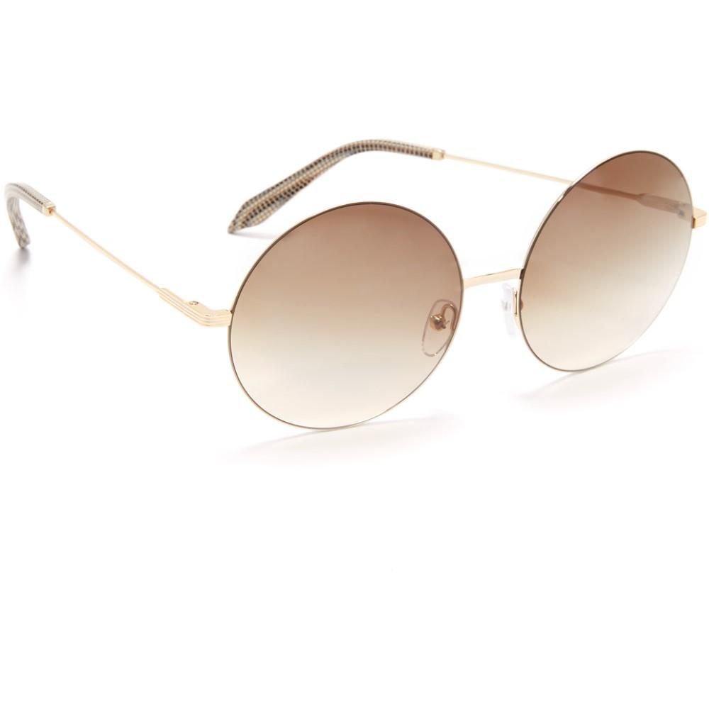 ヴィクトリア ベッカム レディース メガネ・サングラス【Feather Light Round Sunglasses】Gold/Brown