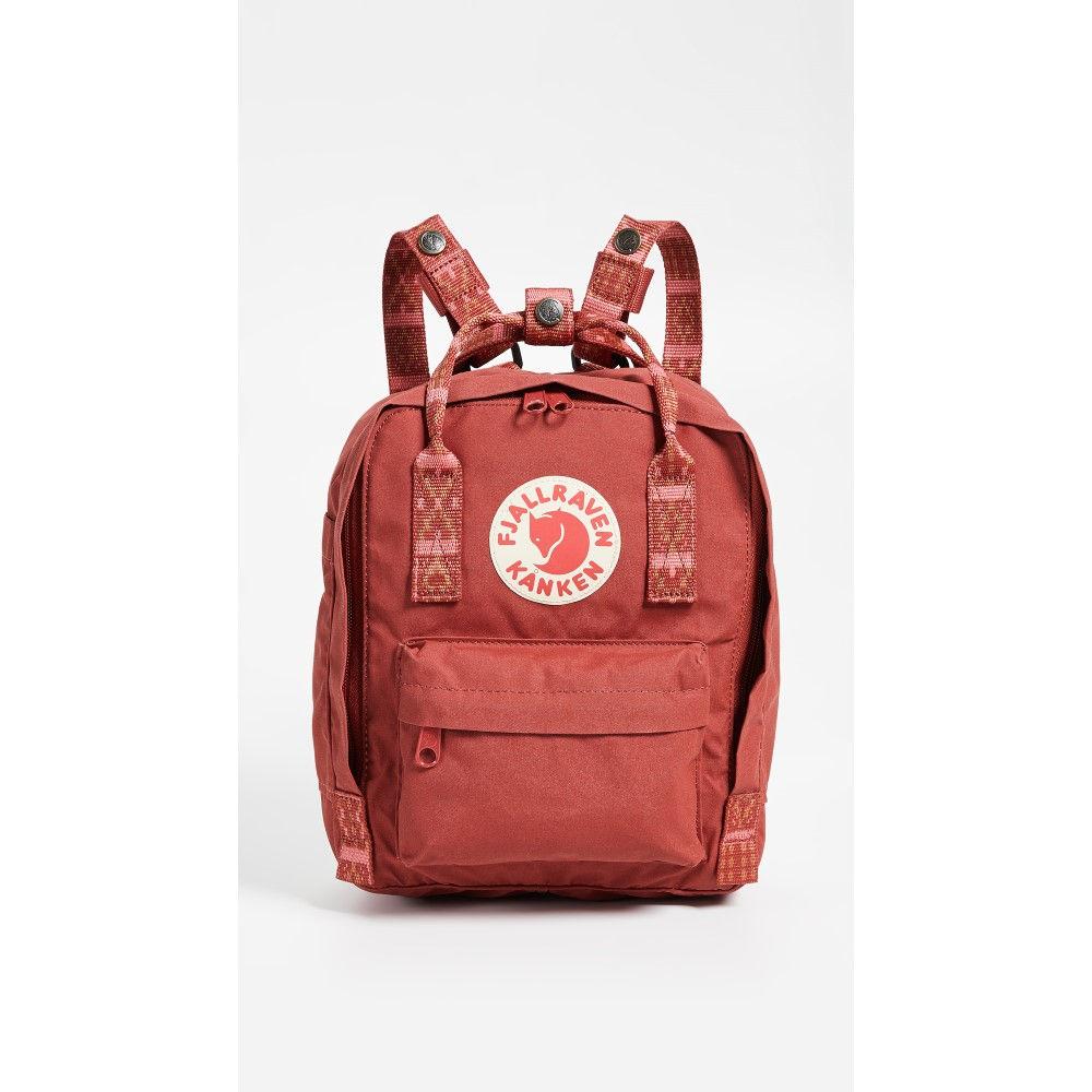 フェールラーベン レディース バッグ バックパック・リュック【Kanken Mini Backpack】Deep Red/Folk Blocked