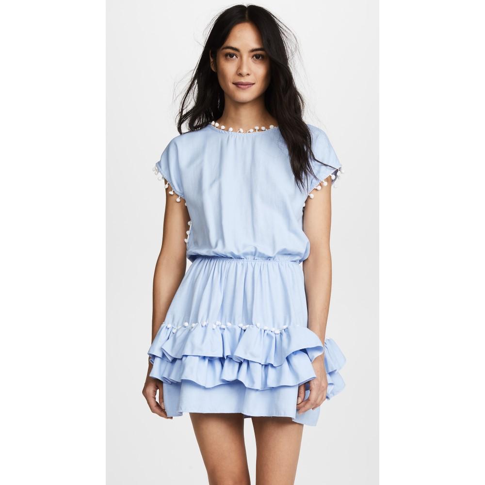 ペイショット レディース 水着・ビーチウェア ビーチウェア【Nissi Pom Pom Dress】Sky Blue