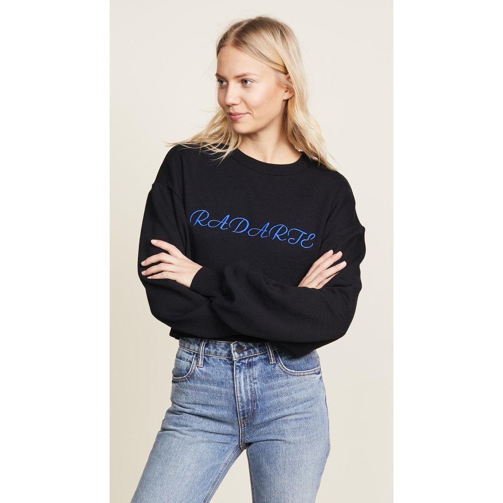 ロダルテ レディース トップス スウェット・トレーナー【Cropped Radarte LA Paris Sweatshirt】Black/Blue