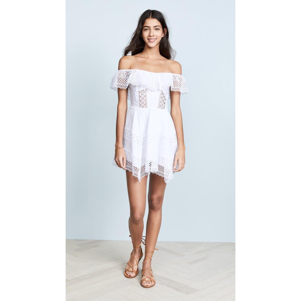 チャロ ルイス レディース 水着・ビーチウェア ビーチウェア【Vaiana Off Shoulder Dress】White