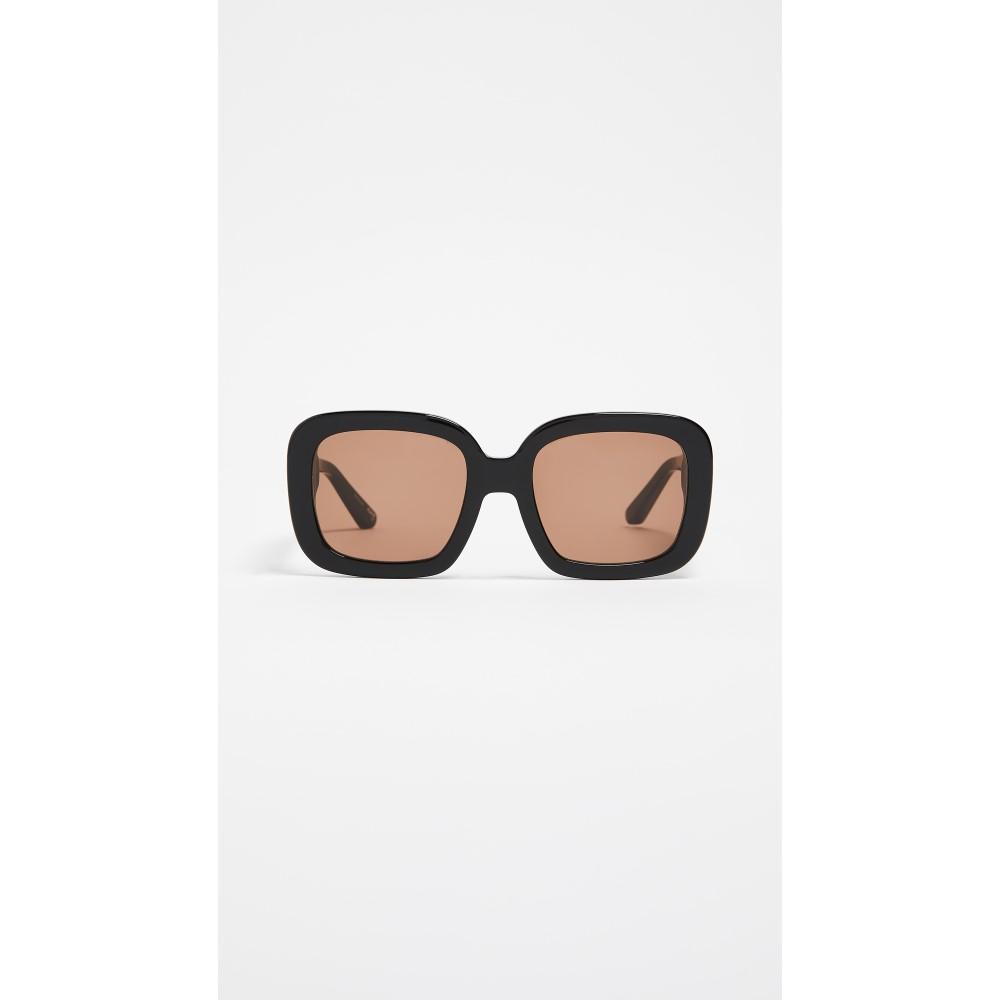 エリザベス アンド ジェームス レディース メガネ・サングラス【Haley Sunglasses】Black/Brown