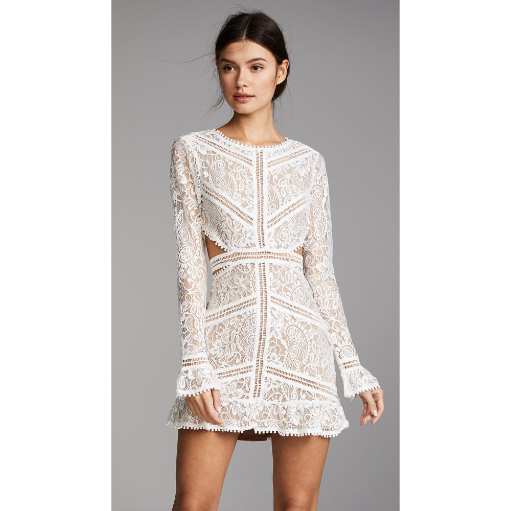 フォーラブアンドレモン レディース ワンピース・ドレス ワンピース【Emerie Cutout Dress】White