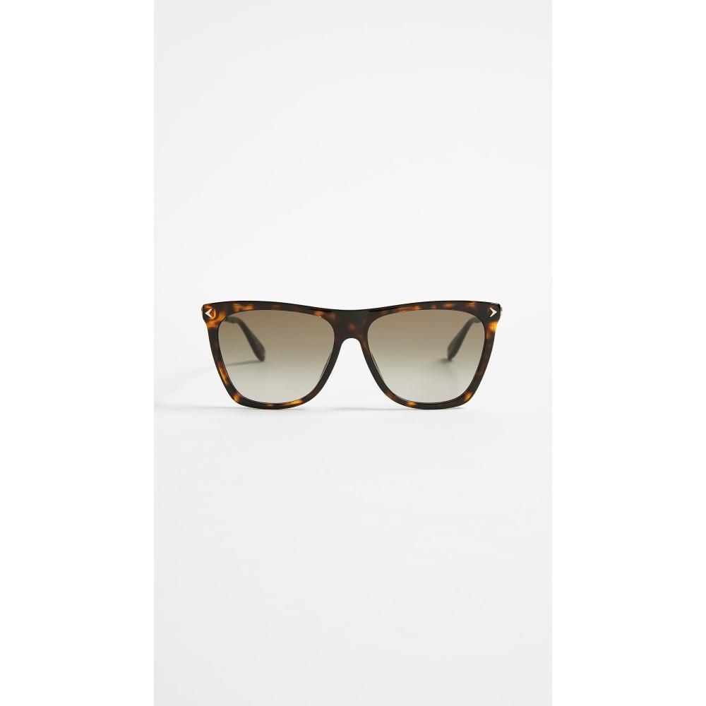 ジバンシー レディース メガネ・サングラス【Square Gradient Sunglasses】Dark Havana/Brown Gradient