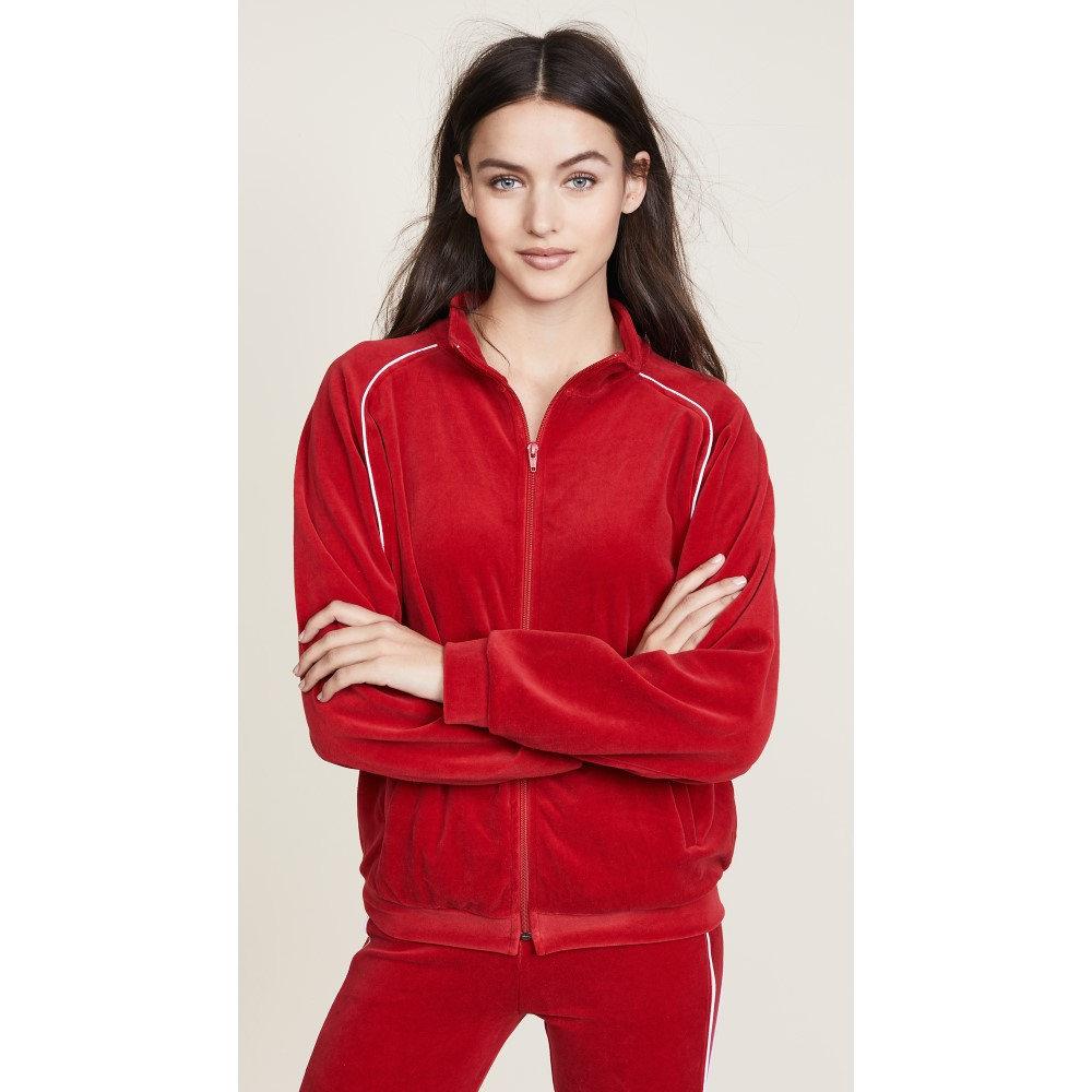 リアナクロージング レディース トップス Tシャツ【The Plush Zip Up Tee】Red/White