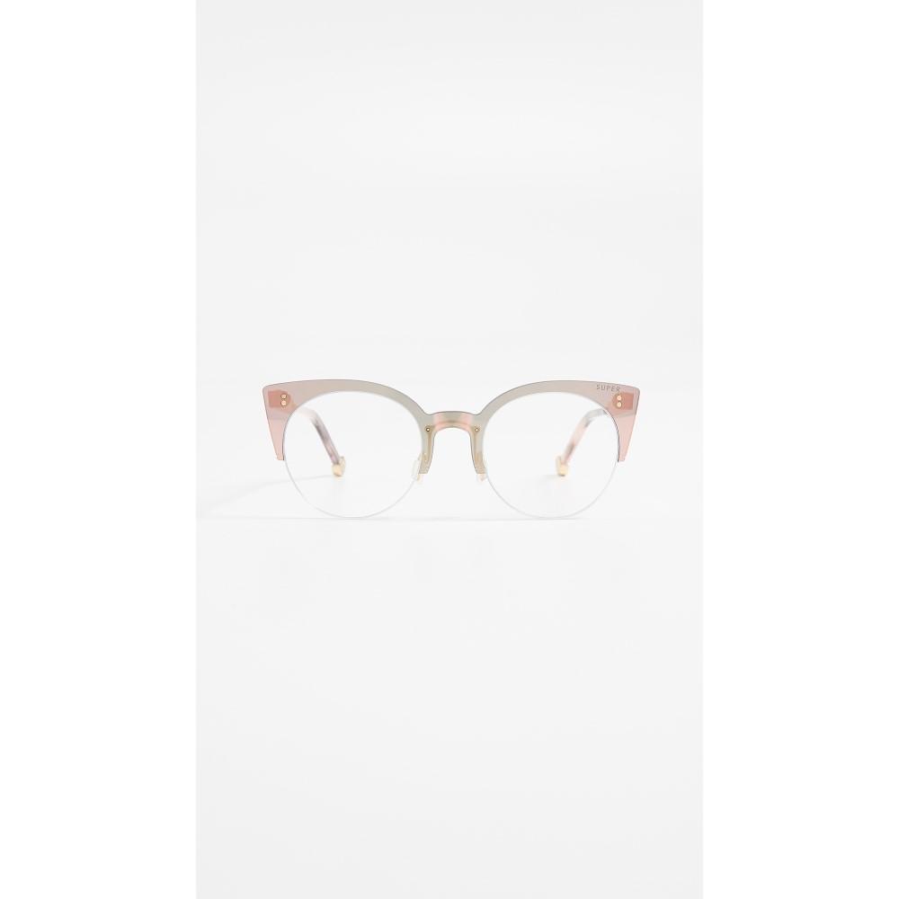 スーパーサングラス レディース メガネ・サングラス【Tuttolente Numero 39 Glasses】Rosa/Clear
