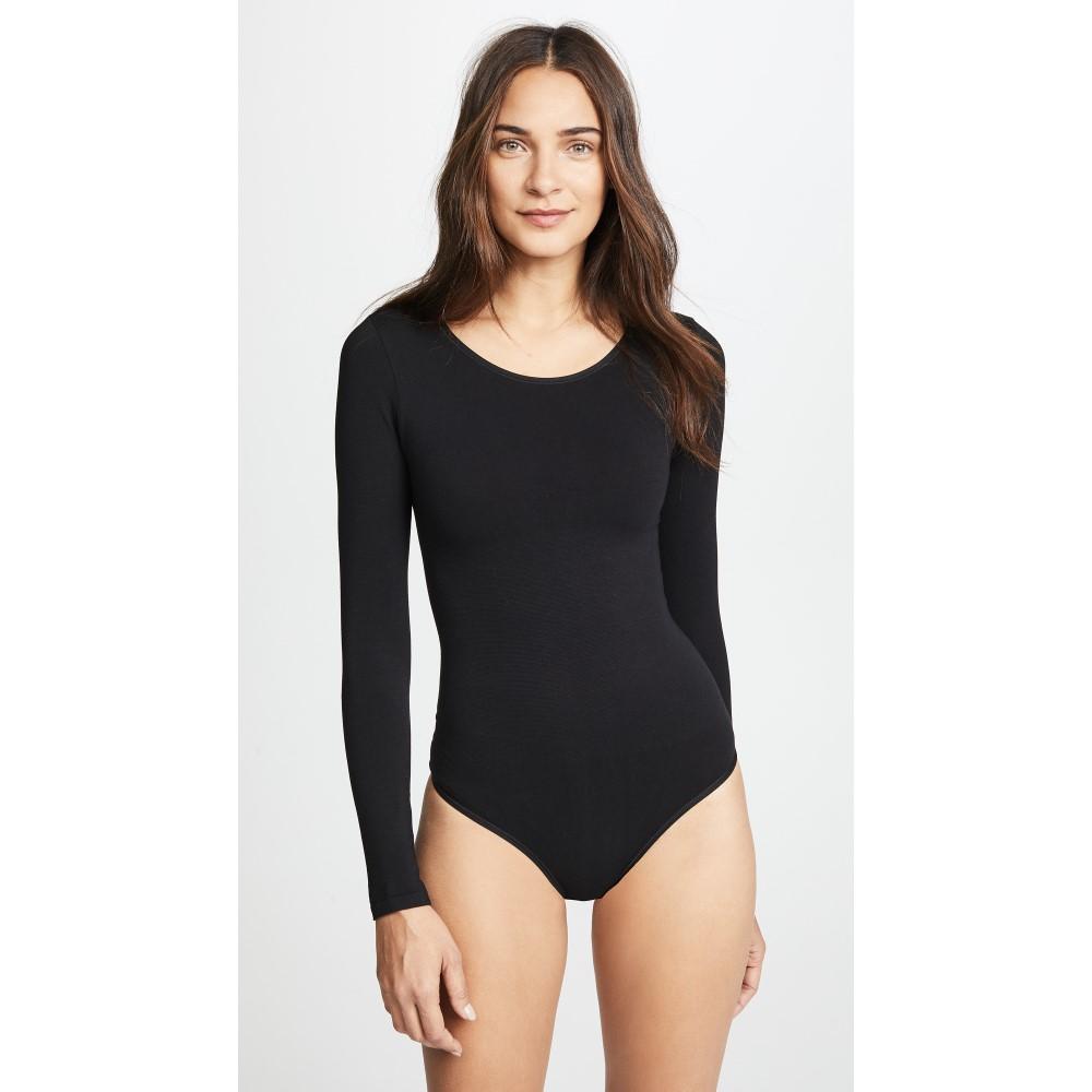 ユミエ レディース インナー・下着 ボディースーツ【Long Sleeve Thong Bodysuit】Black