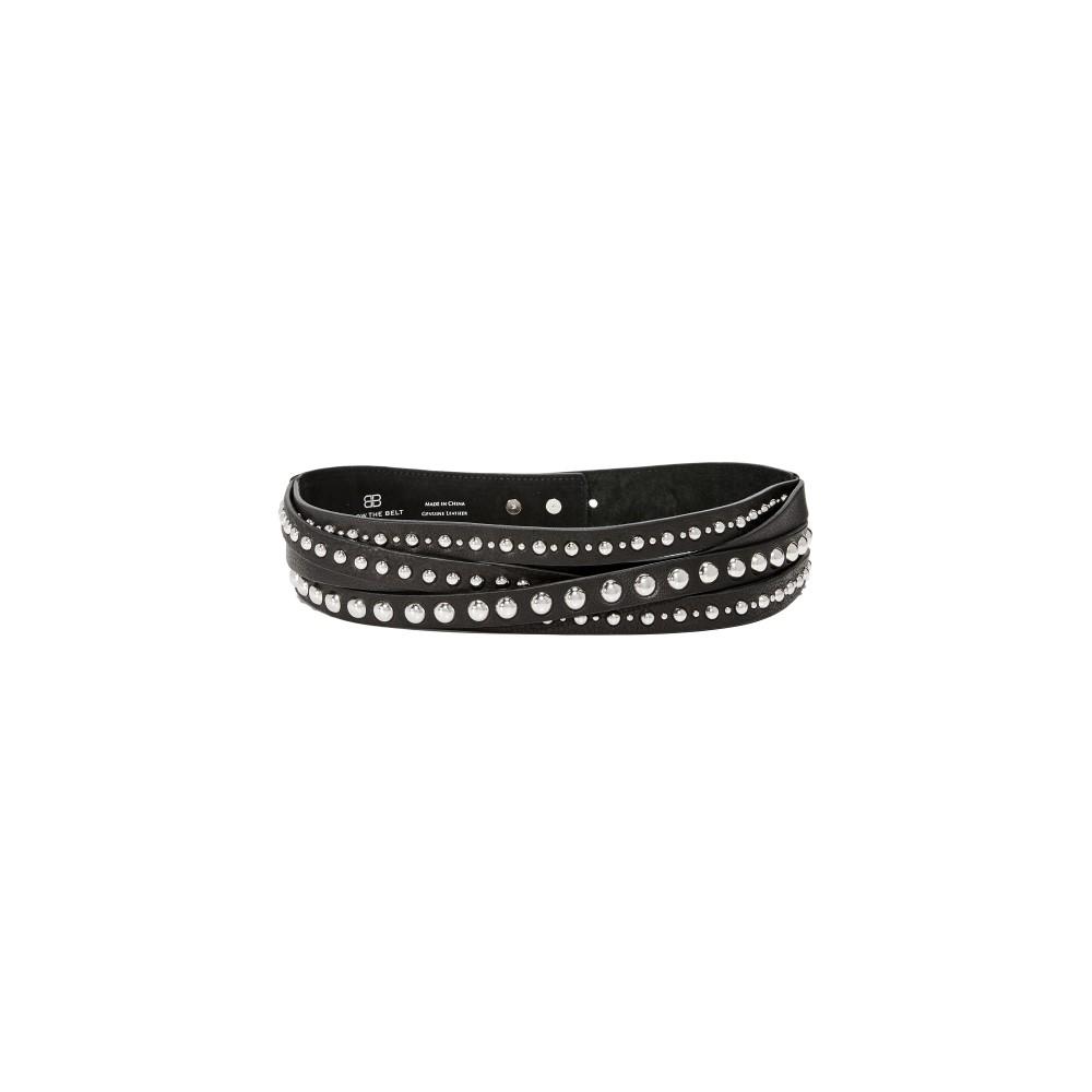 ビーローザベルト レディース ベルト【Nikki Moto Belt】Black/Silver