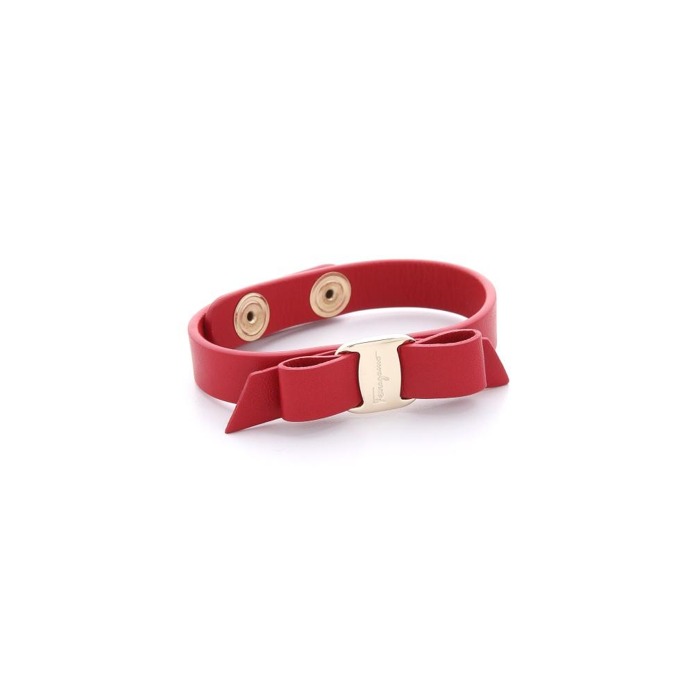 サルヴァトーレ フェラガモ レディース ジュエリー・アクセサリー ブレスレット【Vara Bow Single Wrap Bracelet】Rosso