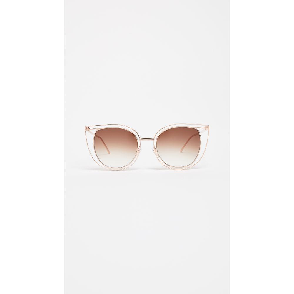 ティエリー ラスリー レディース メガネ・サングラス【Eventually Sunglasses】Rose Gold/Brown