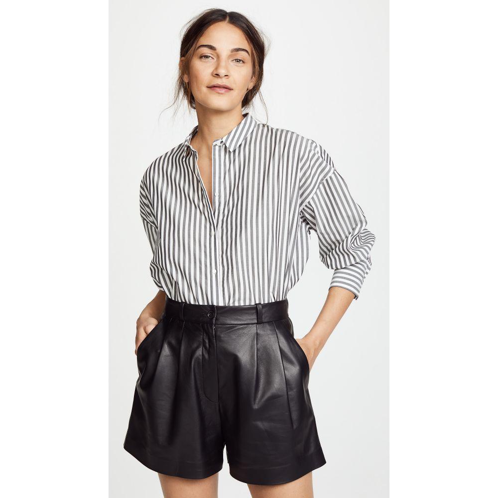 ニリ ロータン レディース トップス ブラウス・シャツ【Fulton Shirt】Black/White Stripe