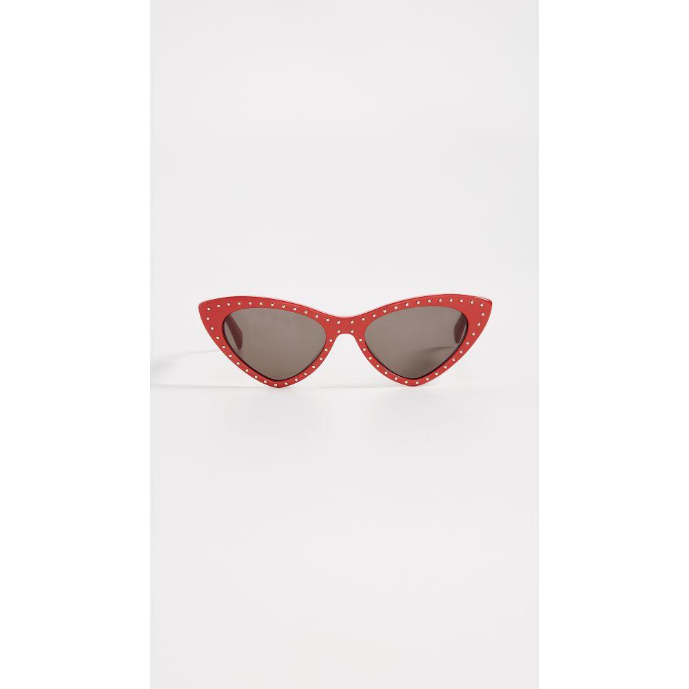 モスキーノ レディース メガネ・サングラス【Pointed Cat Eye Sunglasses】Red/Grey Blue