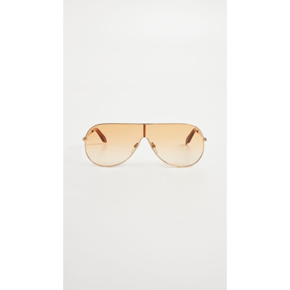 ヴィクトリア ベッカム レディース メガネ・サングラス【Grooved Visor Sunglasses】Gold/Orange